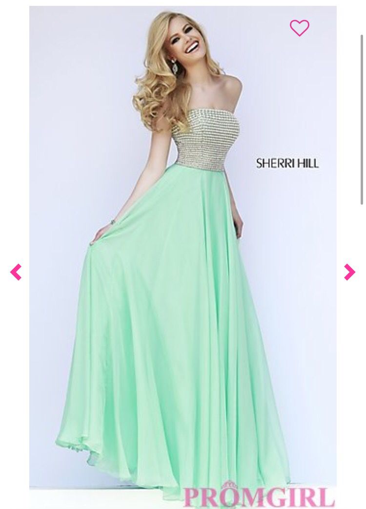 Seafoam Green Sherri Hill Prom Dress w/ pearl details | Prom ...