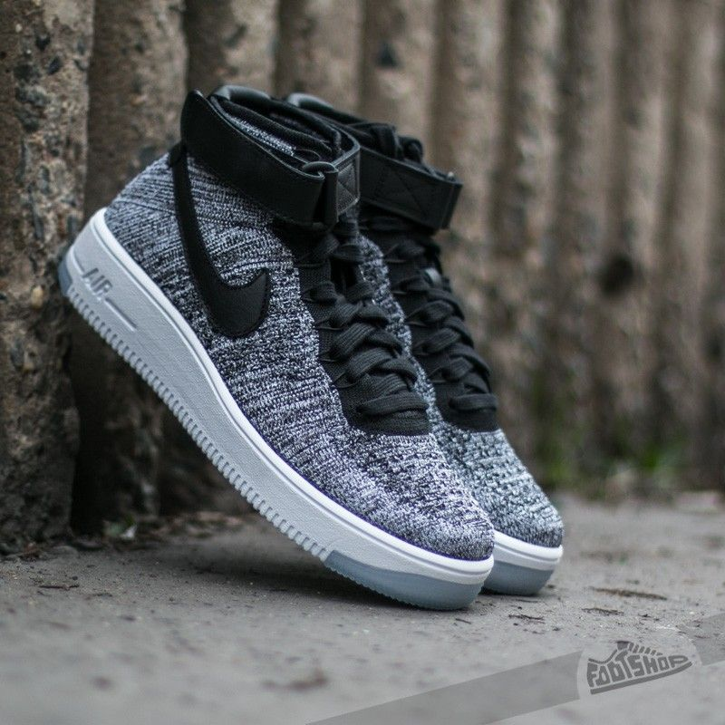High Quaity Nike W AF1 Flyknit Black/Black-White
