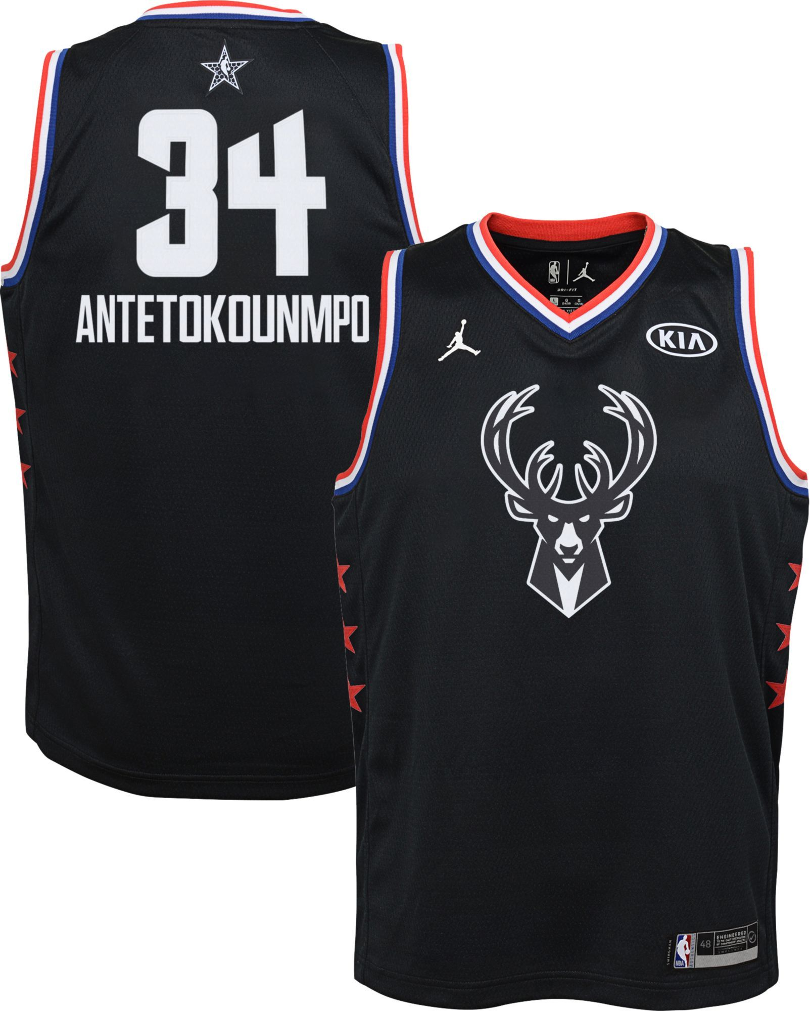 competitive price 47c33 3bc43 Jordan Youth 2019 NBA All-Star Game Giannis Antetokounmpo ...