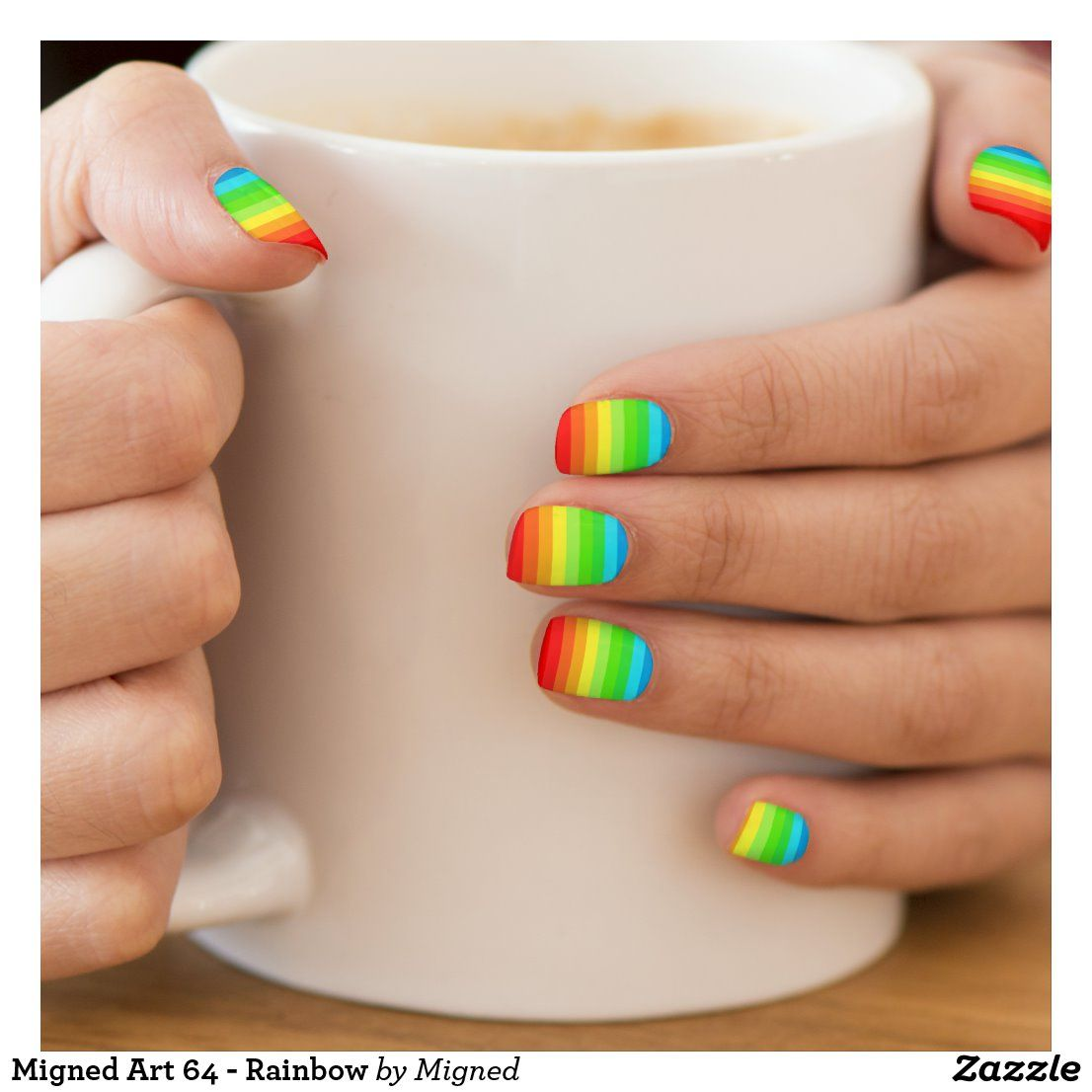 Migned Art 64 - Rainbow Minx Nail Art | Zazzle.com