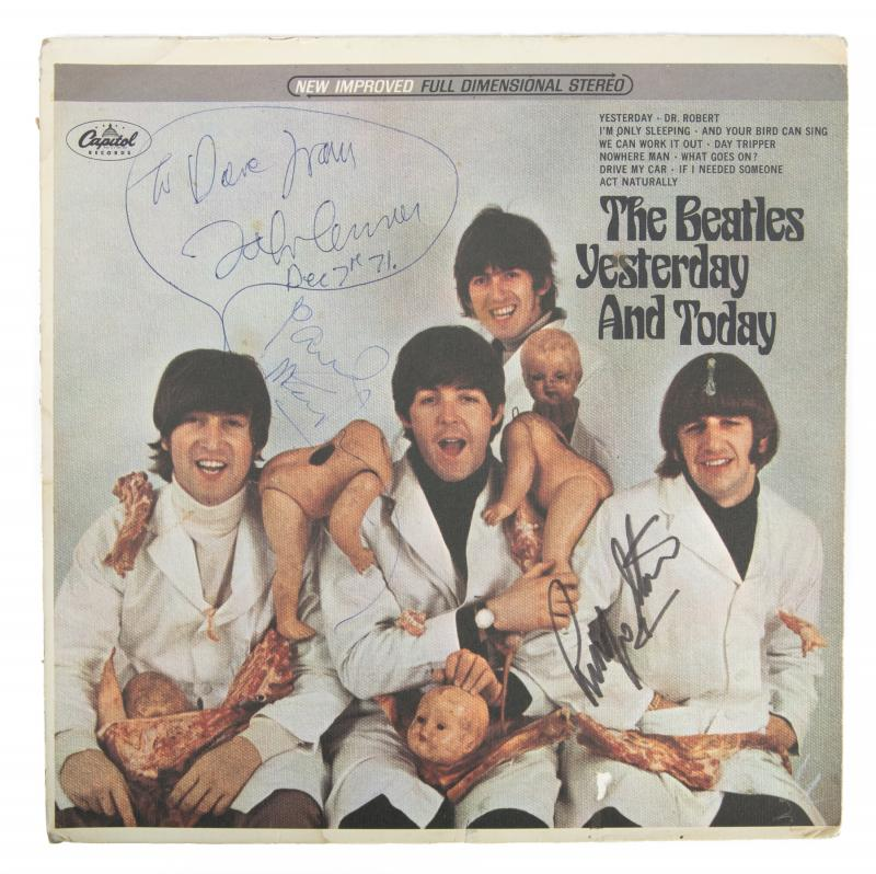 John Lennon Owned And Signed Yesterday And Today First State Butcher Album With Drawing And Other Beatles S In 2020 The Beatles Story The Beatles Yesterday The Beatles