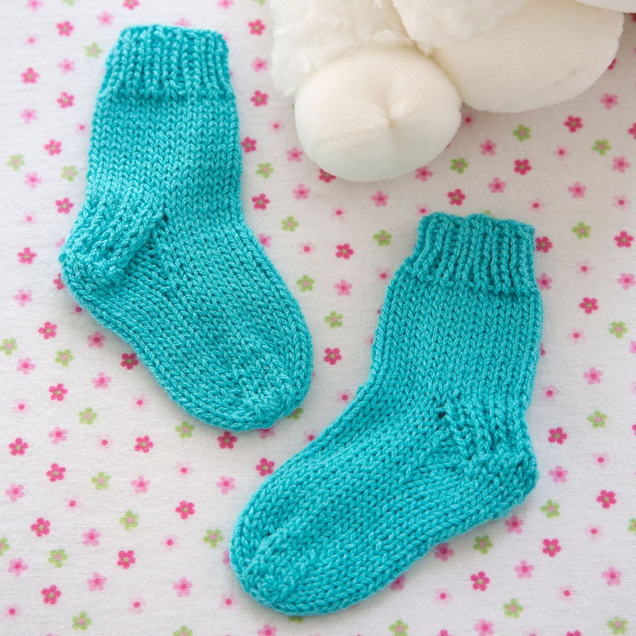 Red Heart Comfy Baby Socks   Yarnspirations in 2020   Baby ...