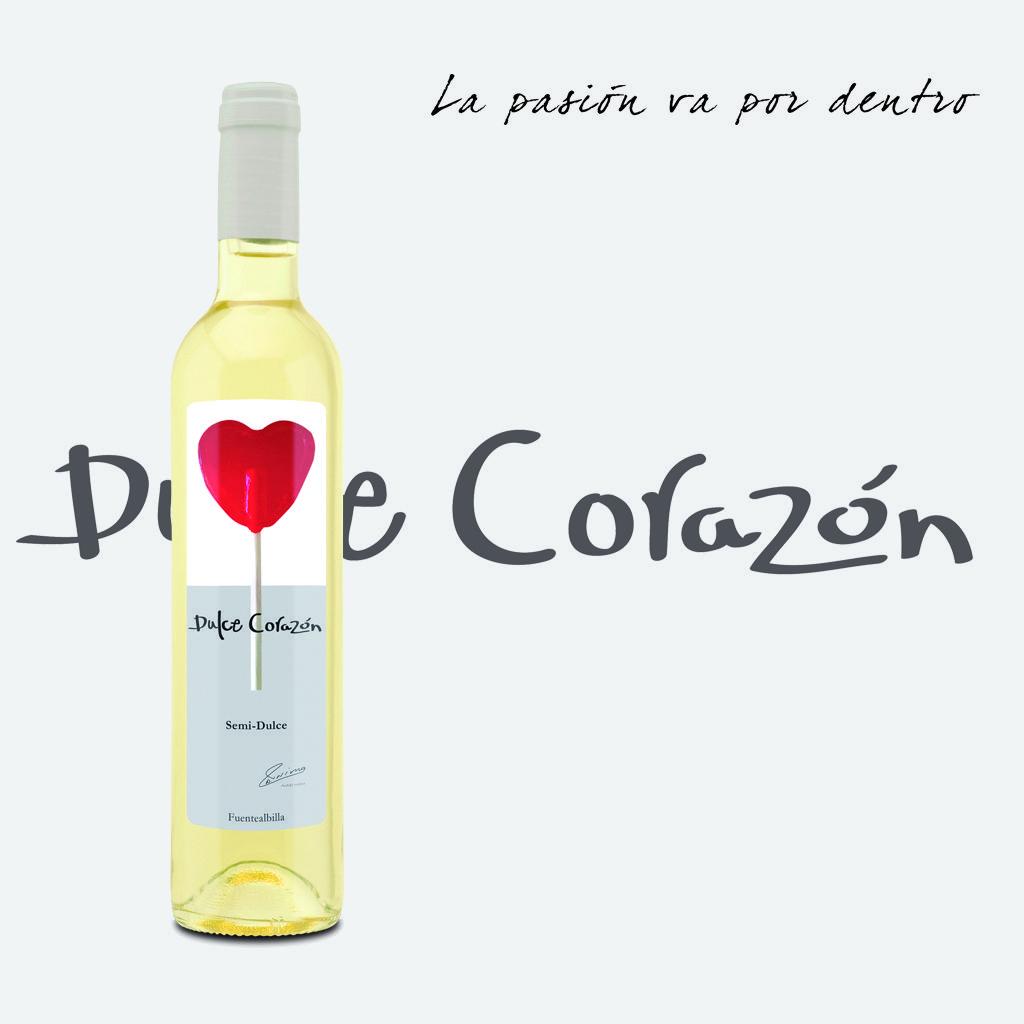 Dulce Corazon Blanco Vino Elaborado Con La Variedad Moscatel
