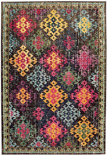 Teppich modernes Design COLORES VINTAGE RUG MULTI 80 cm x 150 cm - Teppich Wohnzimmer Braun