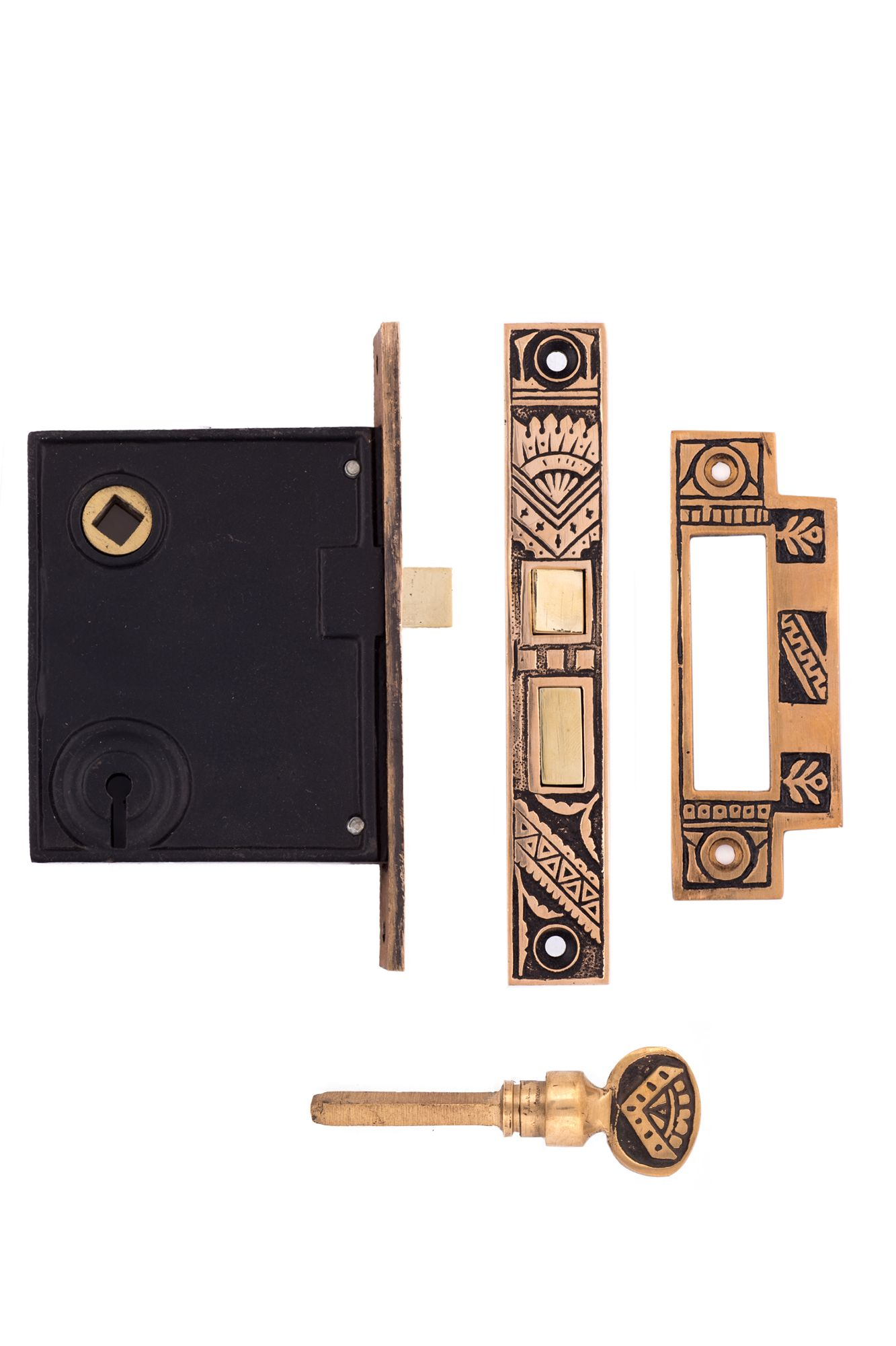Oriental Privacy Mortise Lock Strike Plate1301a Us By Charleston Hardware With Images Mortise Lock Oriental Pattern Lock Set
