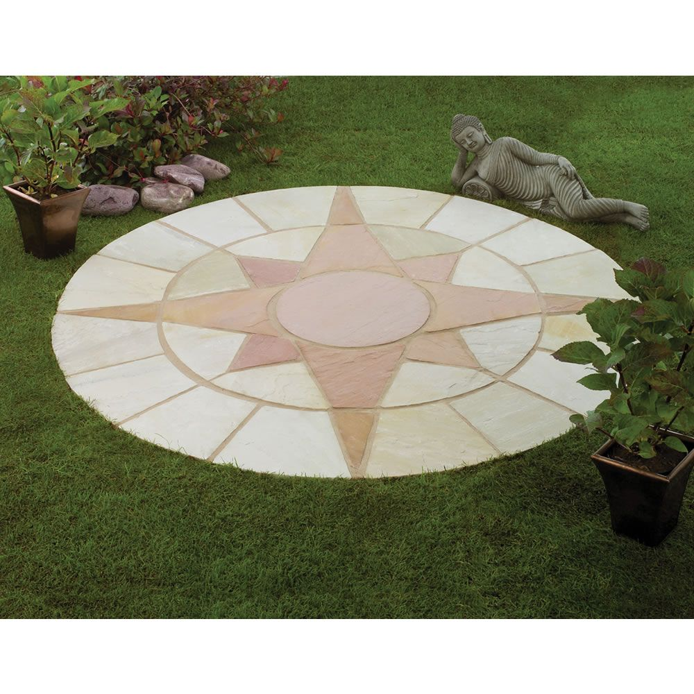 Mini Star Circle Natural Stone Patio Paving Kit The Mini Star Circle  Natural Stone Patio Paving Kit Is An Amazing Pattern, That Is Sure To  Brighten Up Any ...