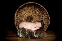 baby in basket...cole j bennett photography