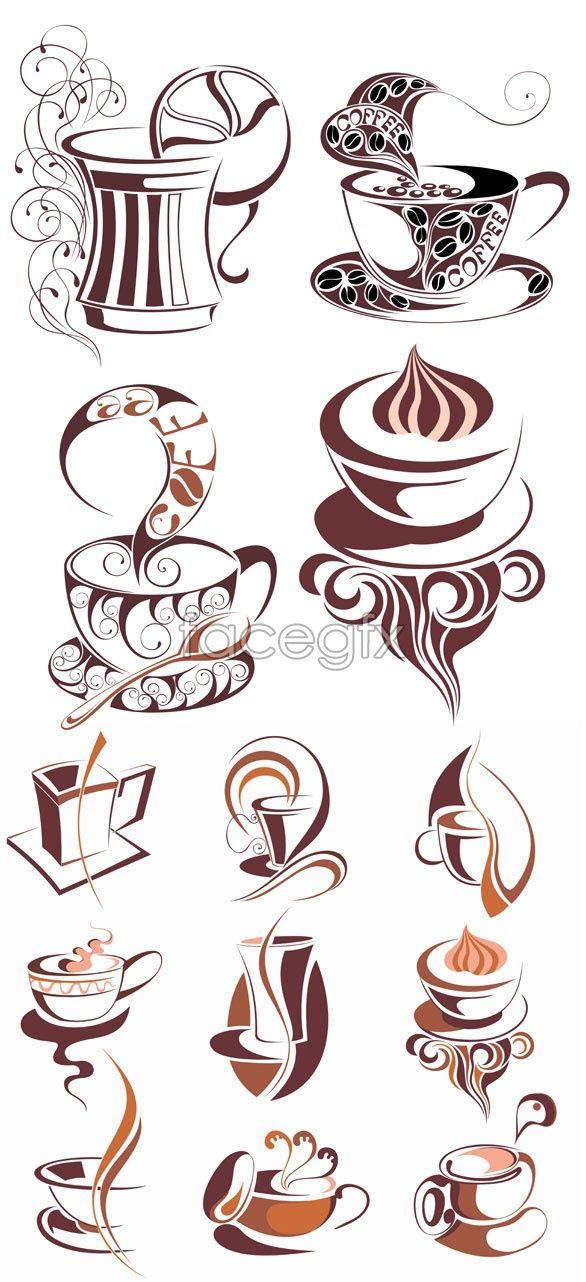 Coffee icon vector _ icon vector Karya seni kopi, Pola