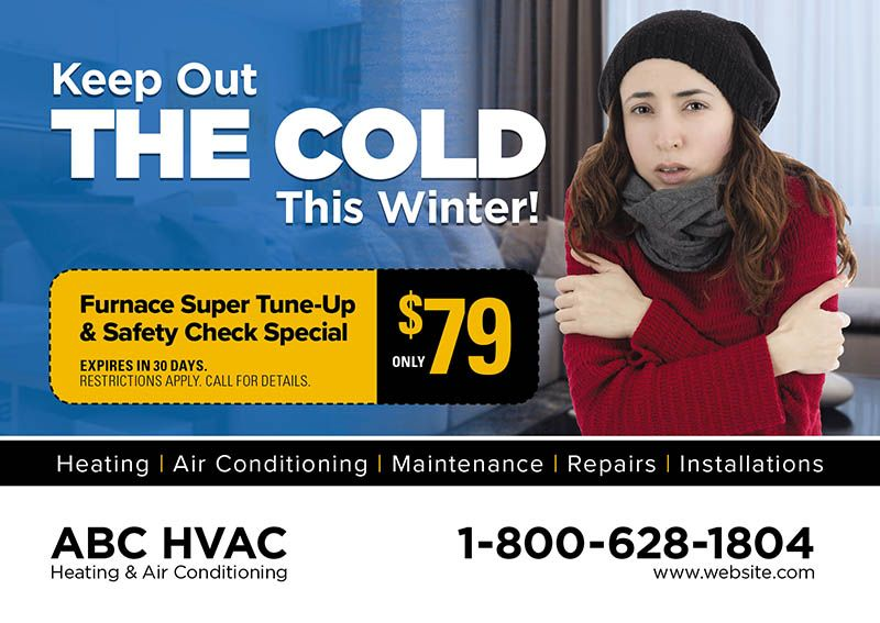 Hvac Direct Mail Postcard Marketing Ideas By Postcardmania Com Heating And Air Conditioning Air Care Direct Mail Postcards