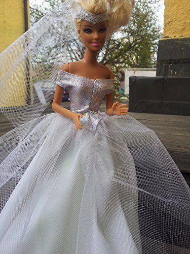 Barbie Puppenkleid Brautkleid DIY Nähset Schnittmuster nähen mit ...