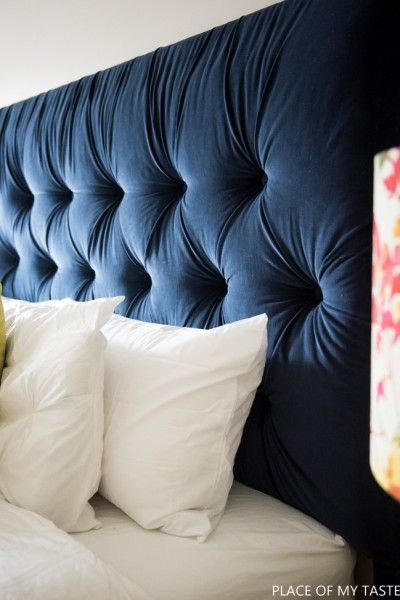 Tufted headboard - how to make it own your own tutorial   Cabecero