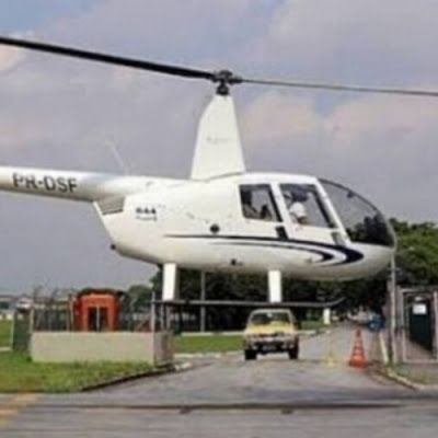 São Paulo: homem vestido de Papai Noel rouba helicóptero