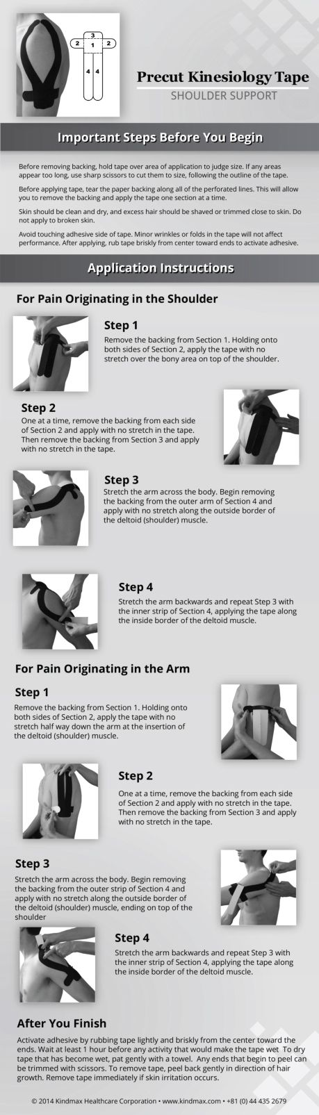 Support your shoulder with kinesiology tape  #ShoulderTaping #HowToApplyKtape #ShoulderTreatment