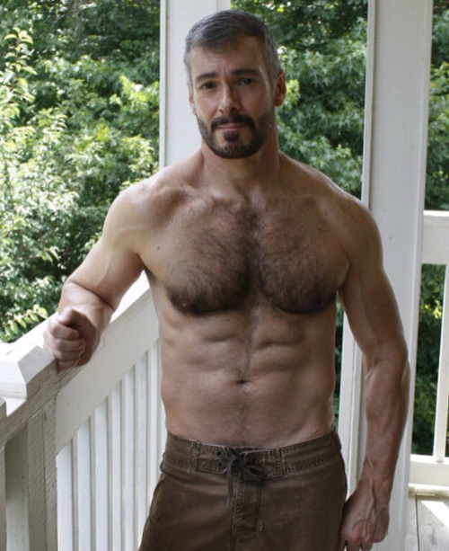 Very handsome hairy men