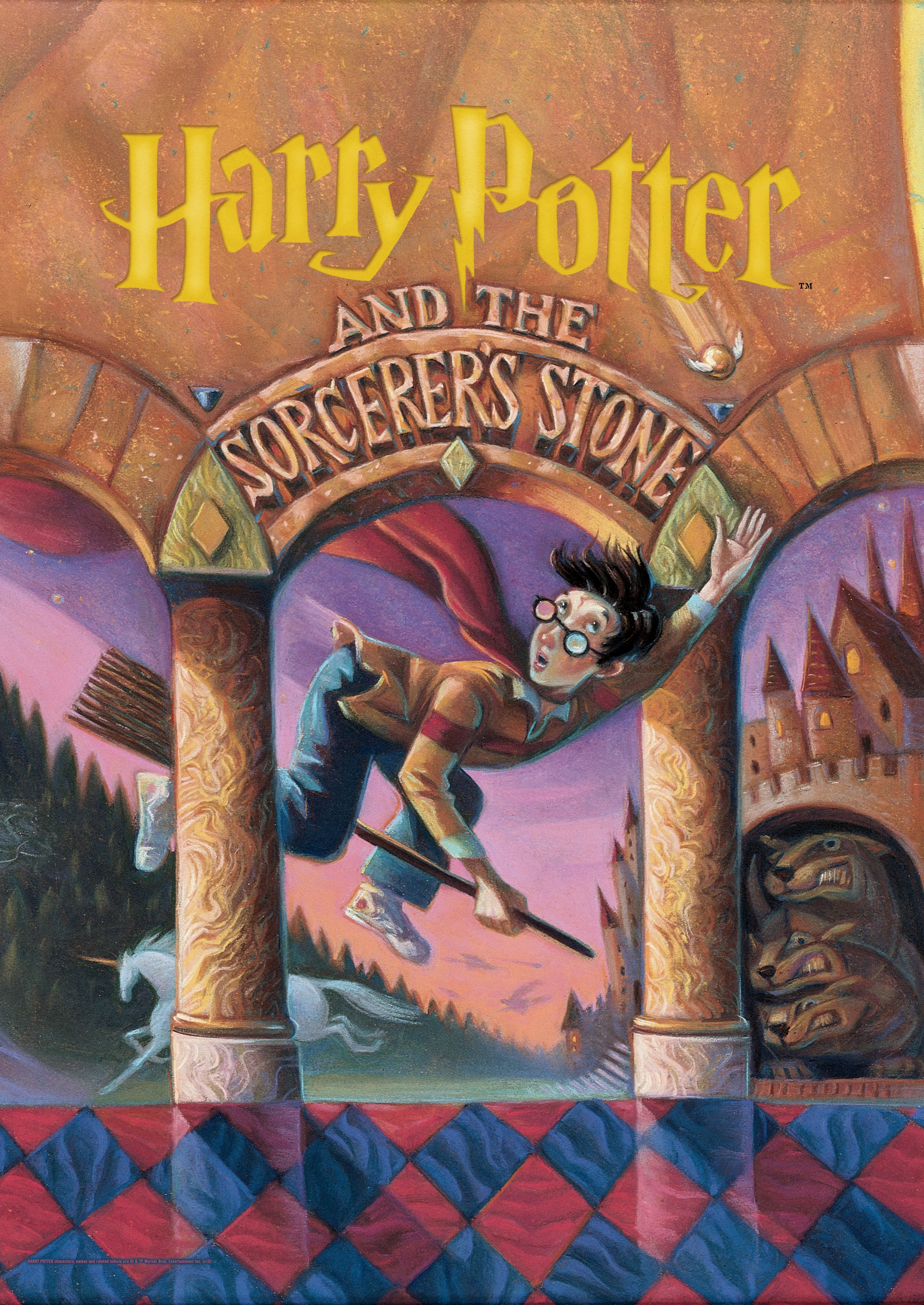 Harry Potter Book Cover Sorcerer S Stone Mightyprint Wall Art