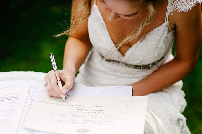 LIST  So, You're Getting Married in a Month? 12 Things to Check Off Your List via Brit + Co.