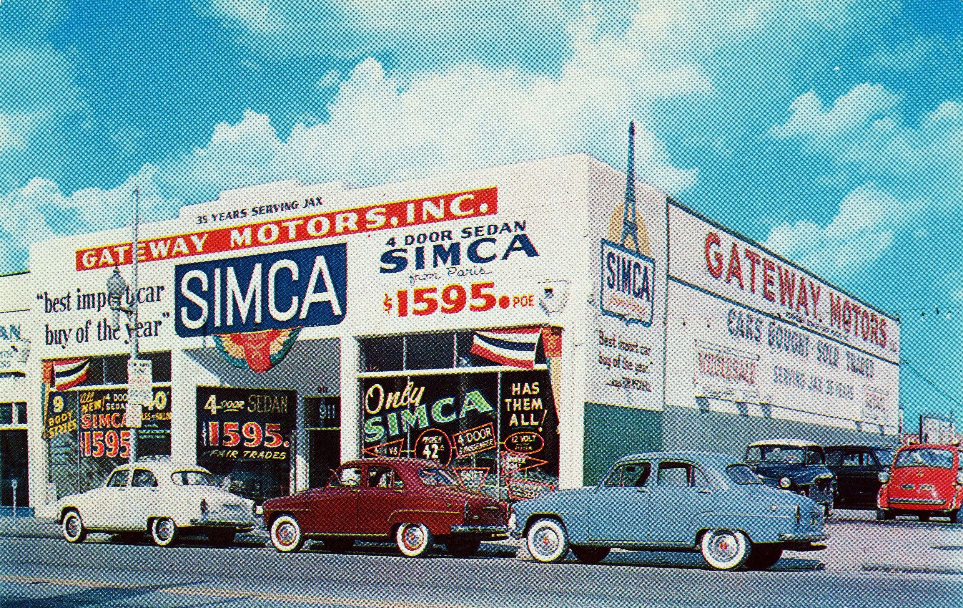 Gateway Motors Inc Simca dealership in Jacksonville Florida in