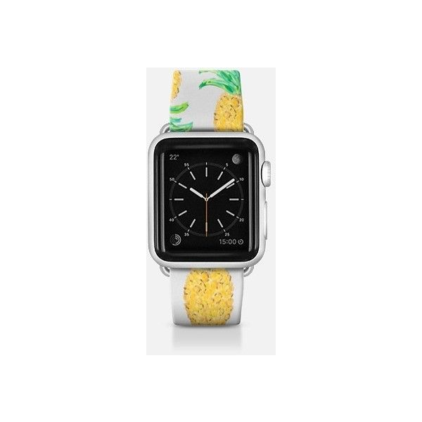 Apple Watch Band - Pineapple Stripes (2,500 THB) ❤ liked on Polyvore featuring jewelry, watches and apple watch band
