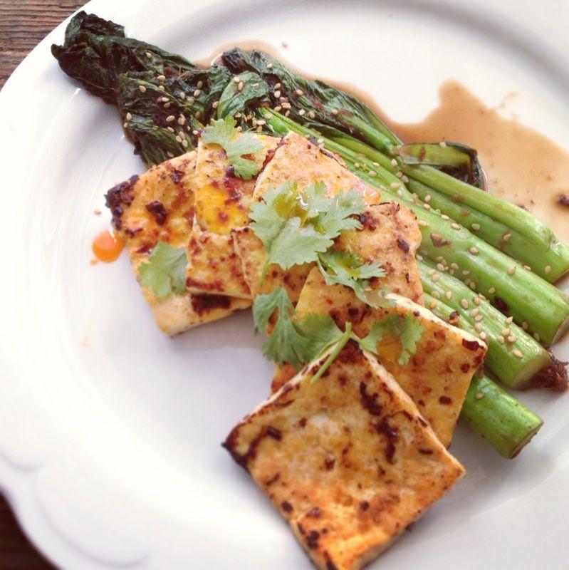 chinese broccoli with tofu