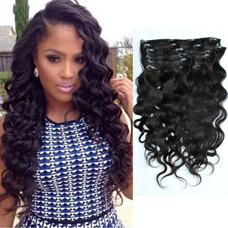 Malaysian Virgin Hair Natural Color Body Wave Clip in Virgin Human Hair Extension for Black Women Clip in Human Hair Extension,High Quality clip in hair extension,China clip on devil horns Suppliers, Cheap clip curtain from Qingdao Multicolor Hair Products Co., Ltd on Aliexpress.com