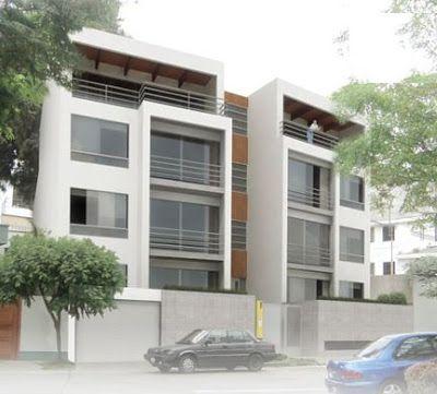 Fotos de fachadas de edificios de 4 y 5 pisos para for Departamentos minimalistas planos