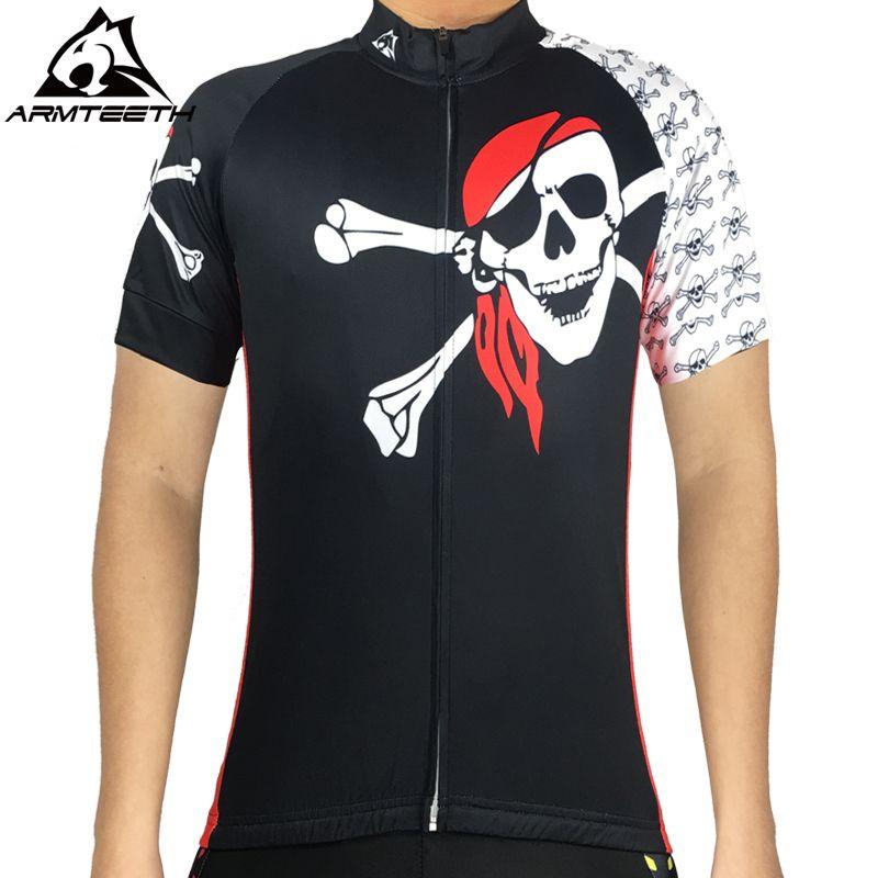 Cycling Jersey Men Skull Racing Bike Clothing Short Sleeve Bicycle T-Shirt Top