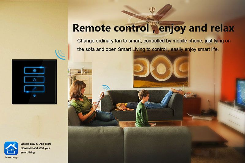 Lanbon Smart Home electric fan smart switches for fan