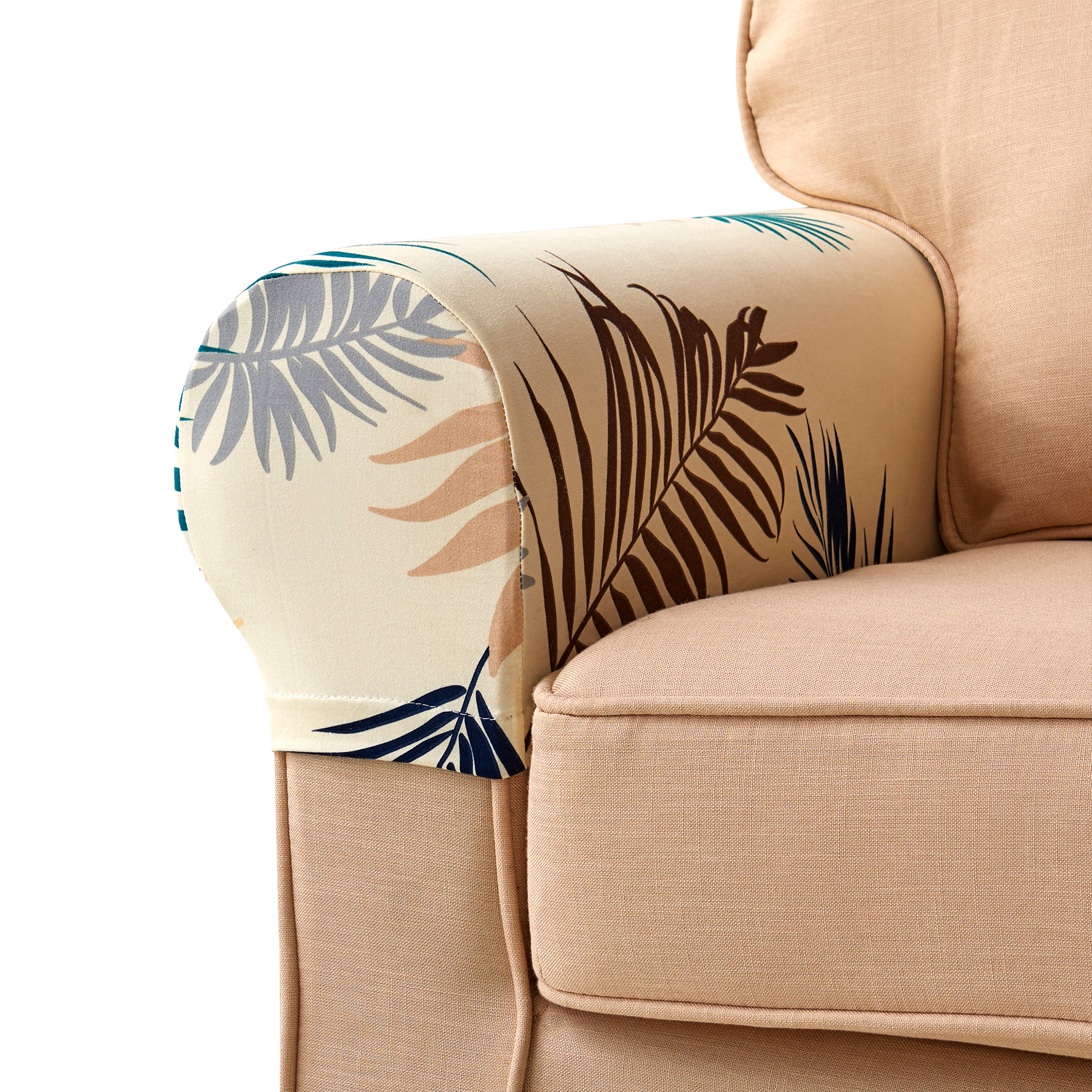 Leaves Printed Stretch Armrest Covers Set Of 2 Couch Arm Covers Arm Chair Covers Sofa Arm Covers