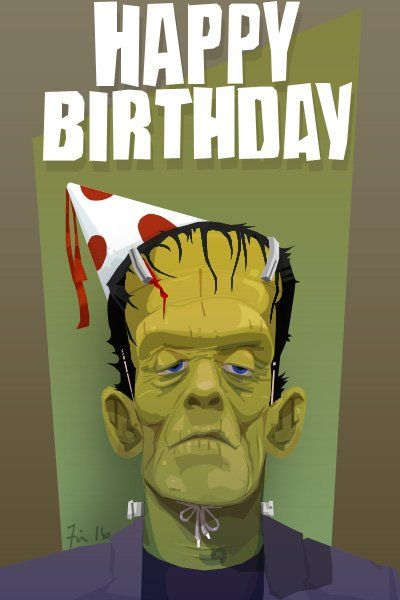 Frankenstein happy birthday