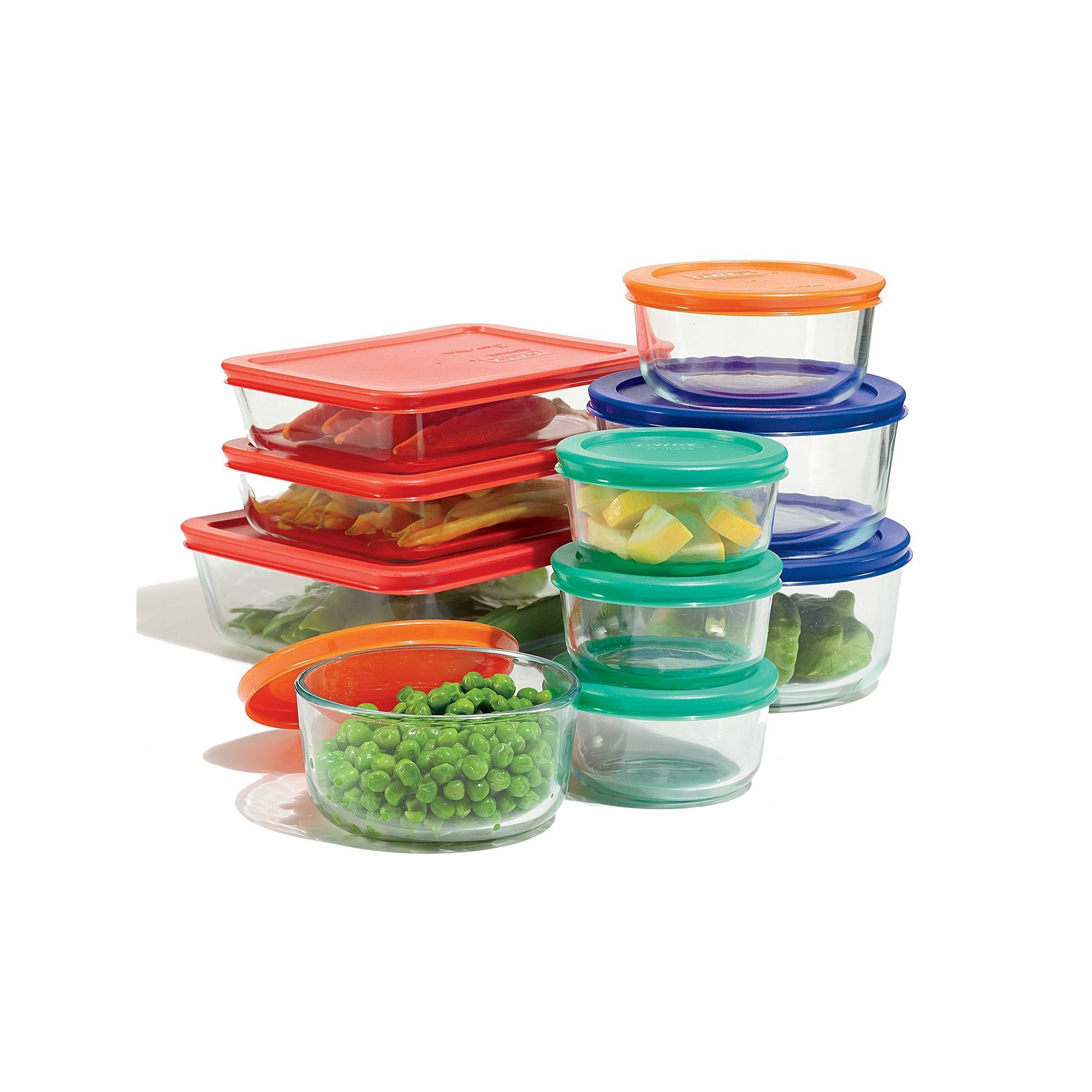 Kitchen Storage & Organization Food Storage Containers Careful Pyrex 20-piece Glass Storage Set-brand New