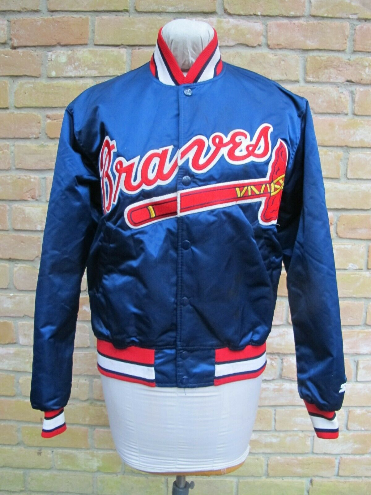 Vintage Usa Made Starter Satin Jacket Official Mlb Atlanta Braves Small Ebay Satin Jackets Jackets Atlanta Braves