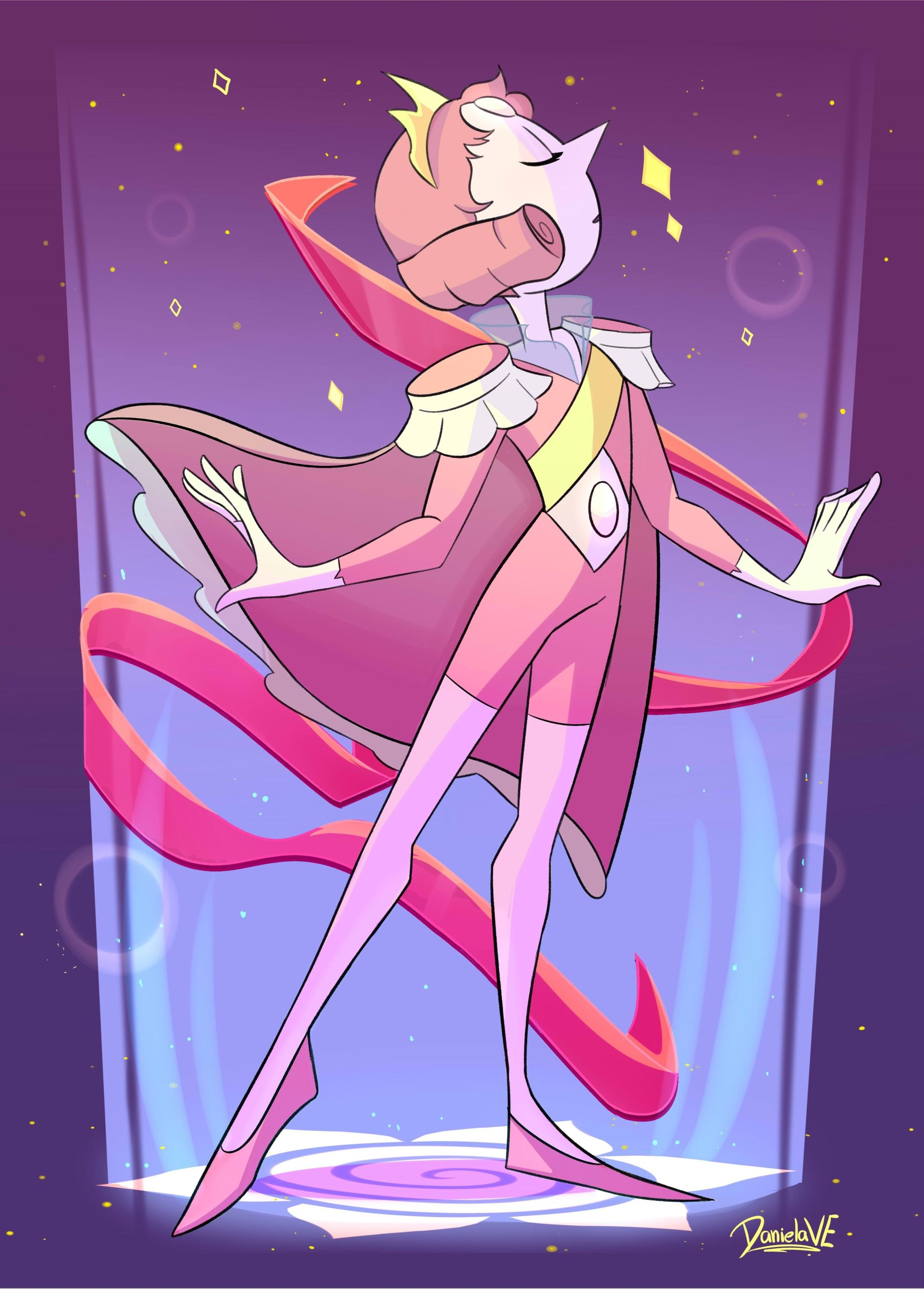 Aahhh I Loved Volleyball And Pearl S Fusion It Was So Emotional And Beautiful At The Steven Universe Wallpaper Pearl Steven Universe Steven Universe Comic