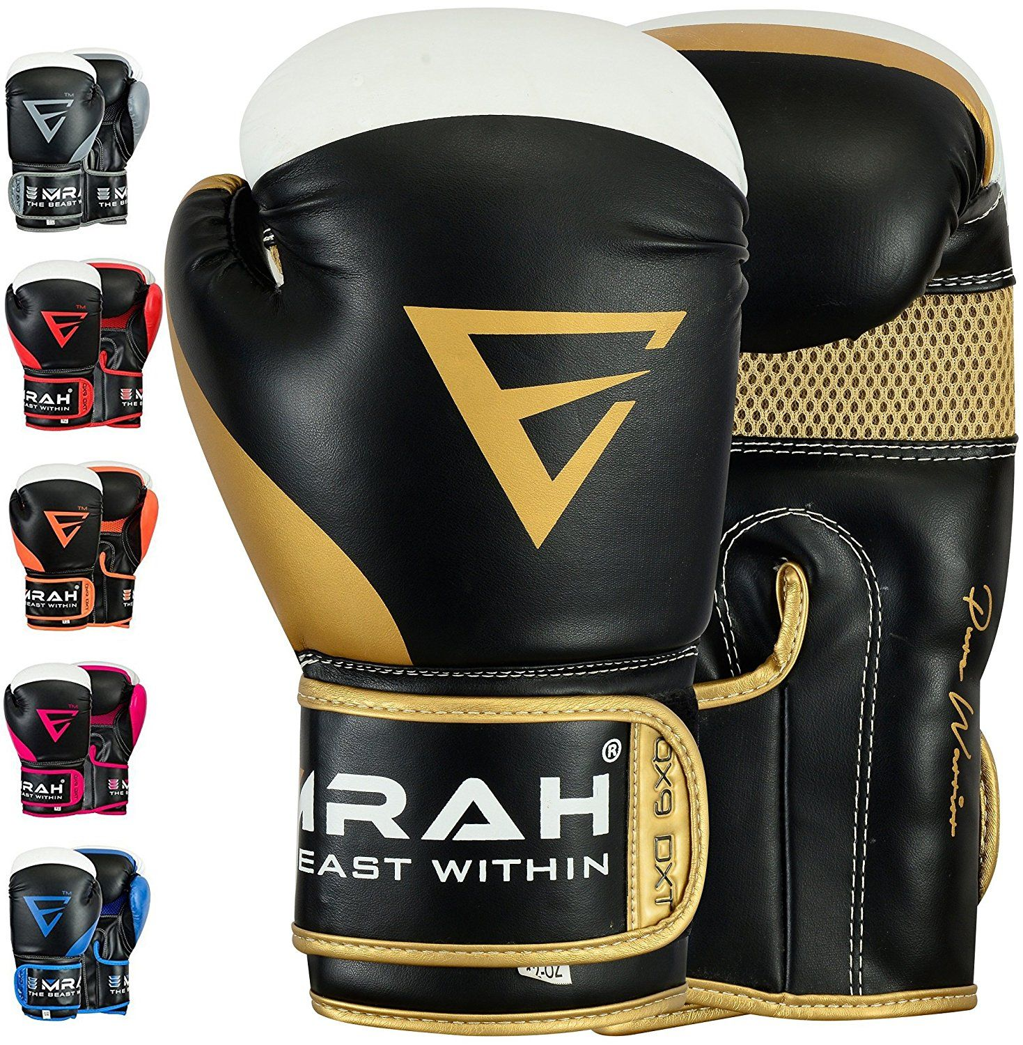 Boxing Gloves Sparring Punching Kickboxing Mitts Muay Thai Training Fighting