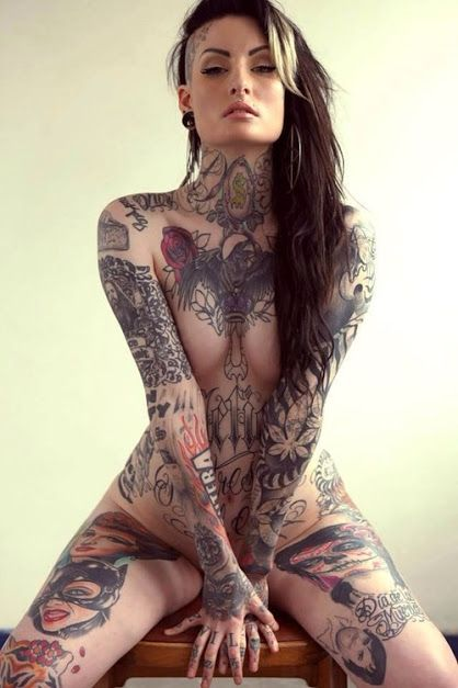 naked Tattooed girls