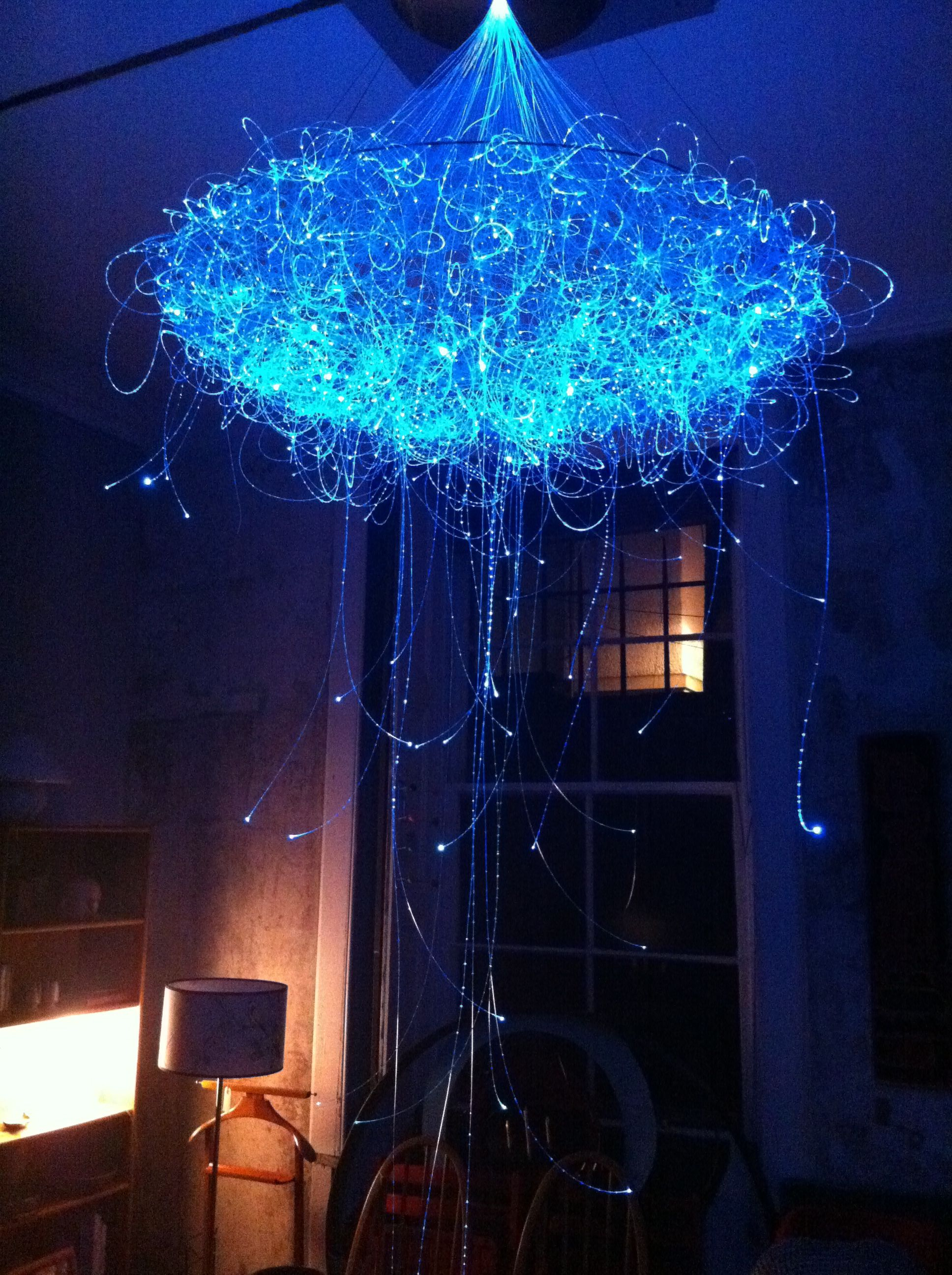 Jellyfish LED chandelier Light Art Pinterest