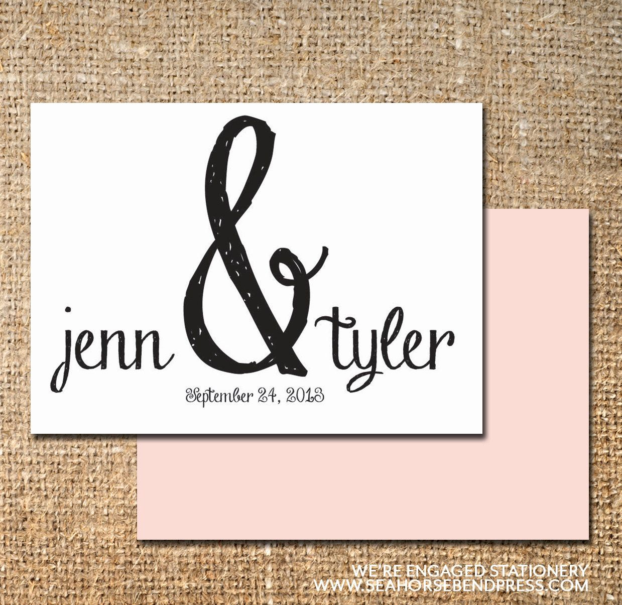 We're Engaged - Couple Stationery Note Cards. $25.00, via Etsy.