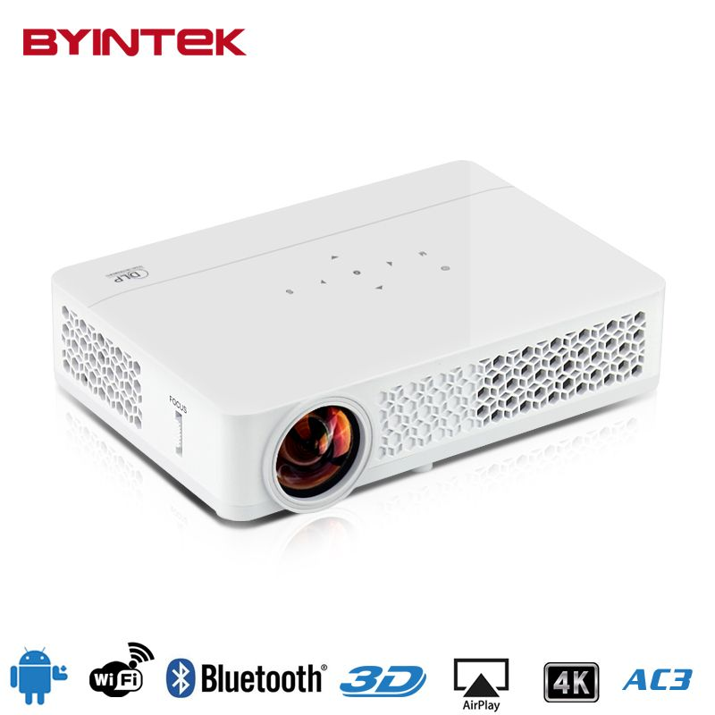 BYINTEK MD321 4K android OS Wifi Bluetooth 1080P HD Home Theater digital 3D HDMI LED Projector Proyector Projetor Beamer