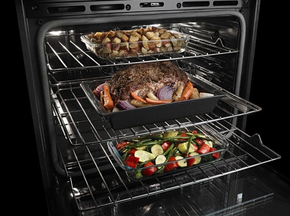 Maytag Mew9627fz 27 Inch Double Electric Wall Oven With True Convection Precision Cooking Power Prehe Electric Wall Oven Double Electric Wall Oven Wall Oven