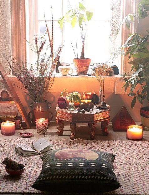 Meditationsraum / Meditationsplatz Einrichten