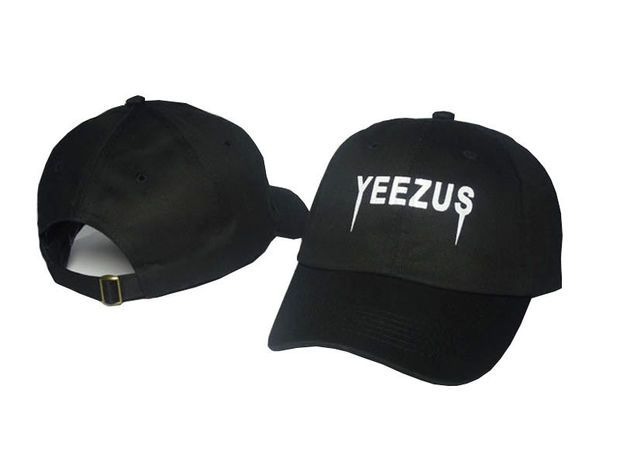 24a4a3979c8f2 Kanye West Yeezus Mens Womens Black Strapback Hat Cap Baseball Cap  Embroidery Fitted Trucker Sun Hat