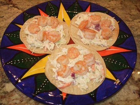 Shakin' it up with Shrimp Tostadas
