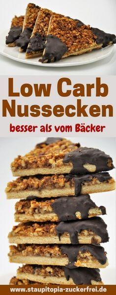 Low Carb Nussecken besser als vom Bäcker - Staupitopia Zuckerfrei #lowcarbeating