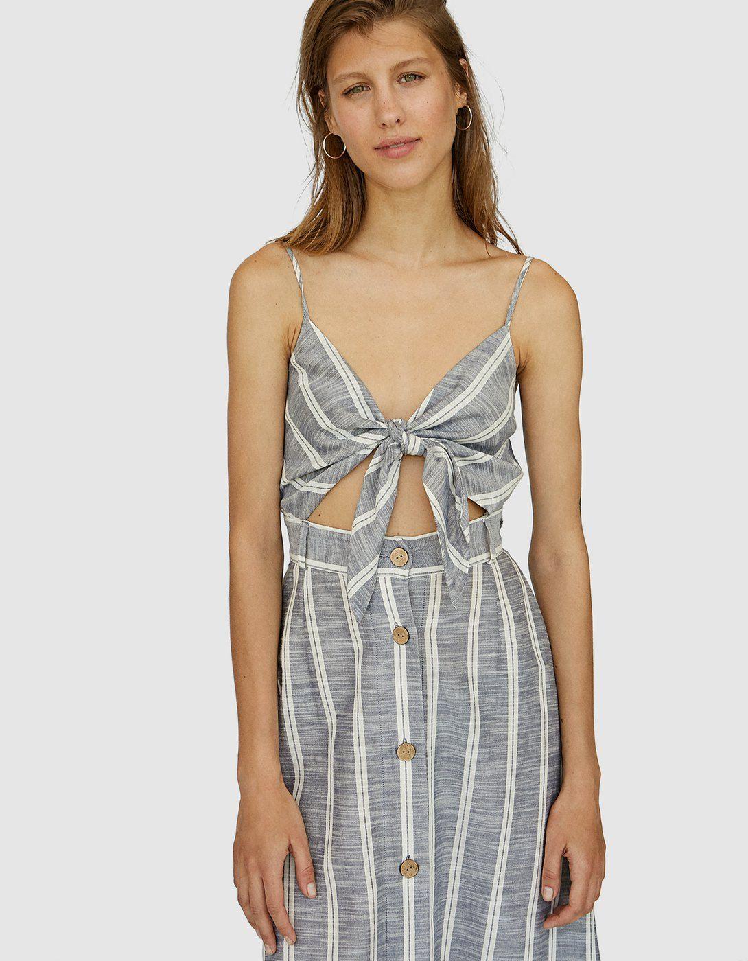 087c7af7e3ad Striped linen dress - Just In