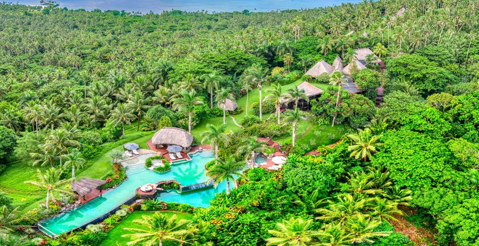 Hilltop Estate - 3 Villas   Laucala Island - Fiji   Pool landscaping, Panoramic, Villa