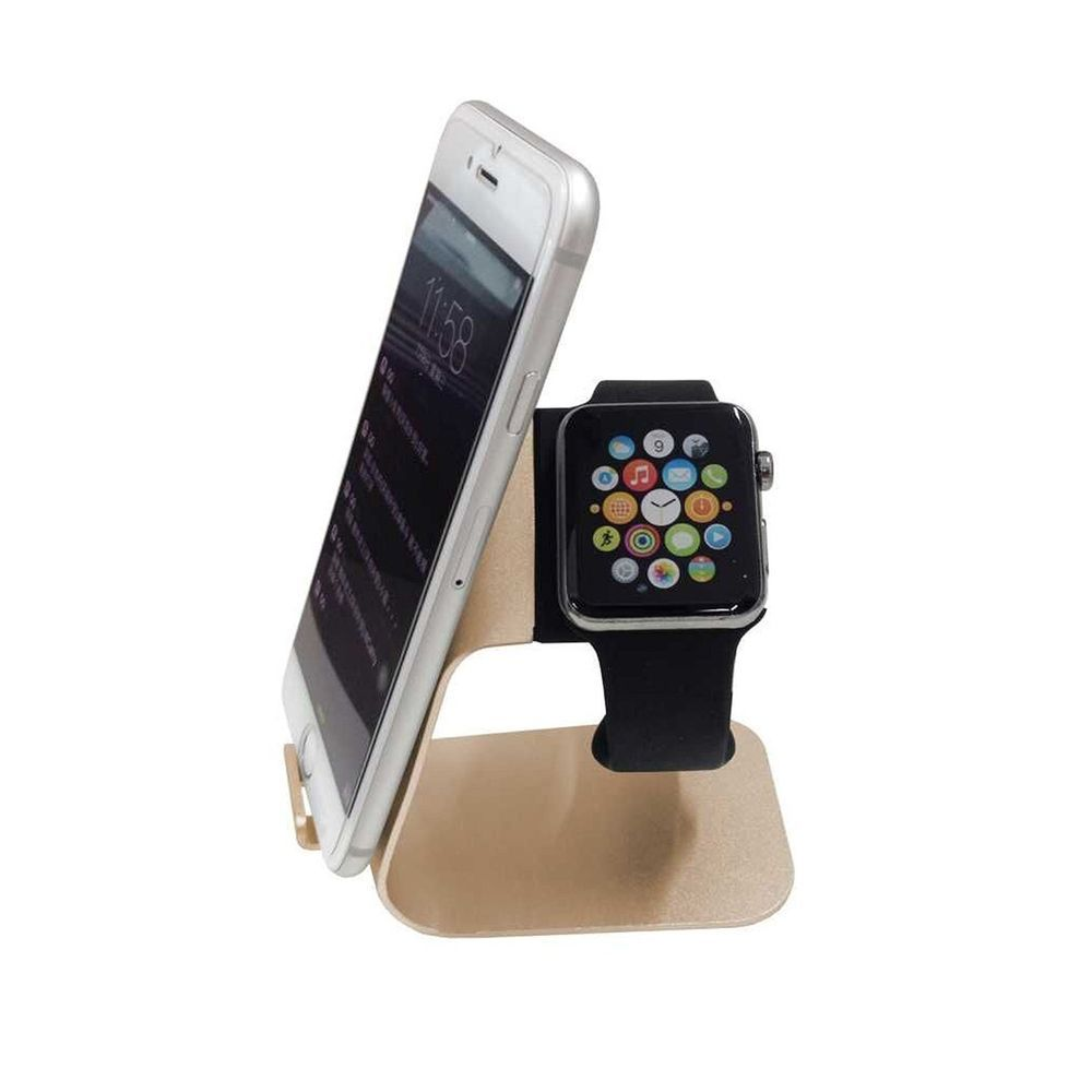 Apple Watch Charging Station Aluminum Gold Duo Stand