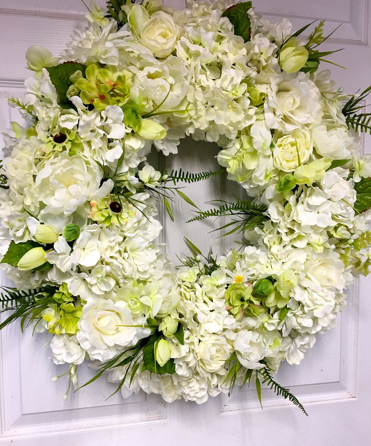 Spring Wreath, Wedding Wreath, Door Wreath, Wall Decor, Gift, Candle ...
