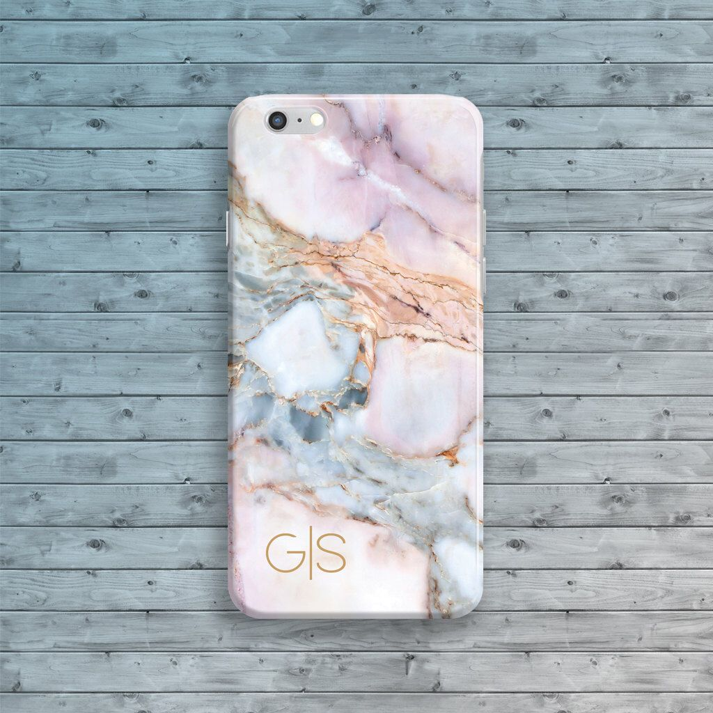 marble iphone 7 plus case initials