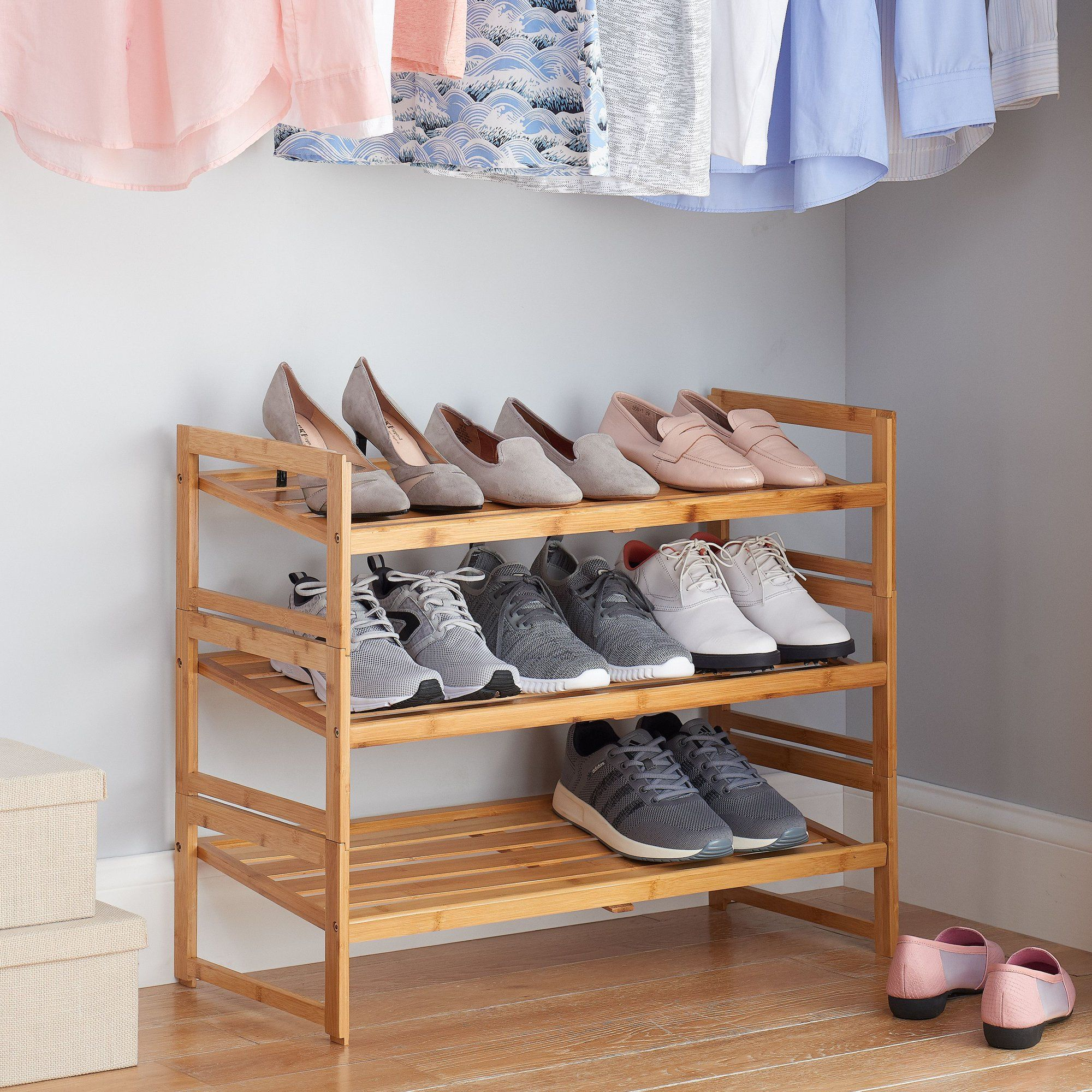 c8c31c93309deb3faf7431802e11fa17 - Better Homes And Gardens 2 Tier Stackable Shoe Rack