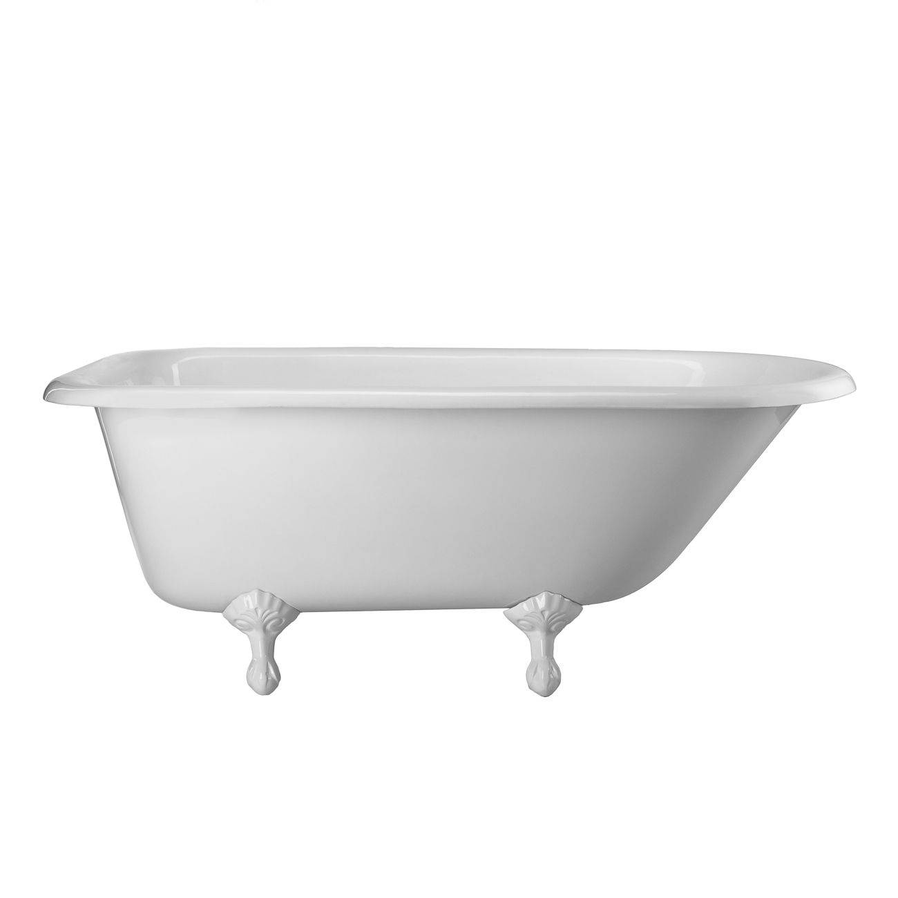 Heritage 72 inch cast iron classic clawfoot tub - no faucet drillings