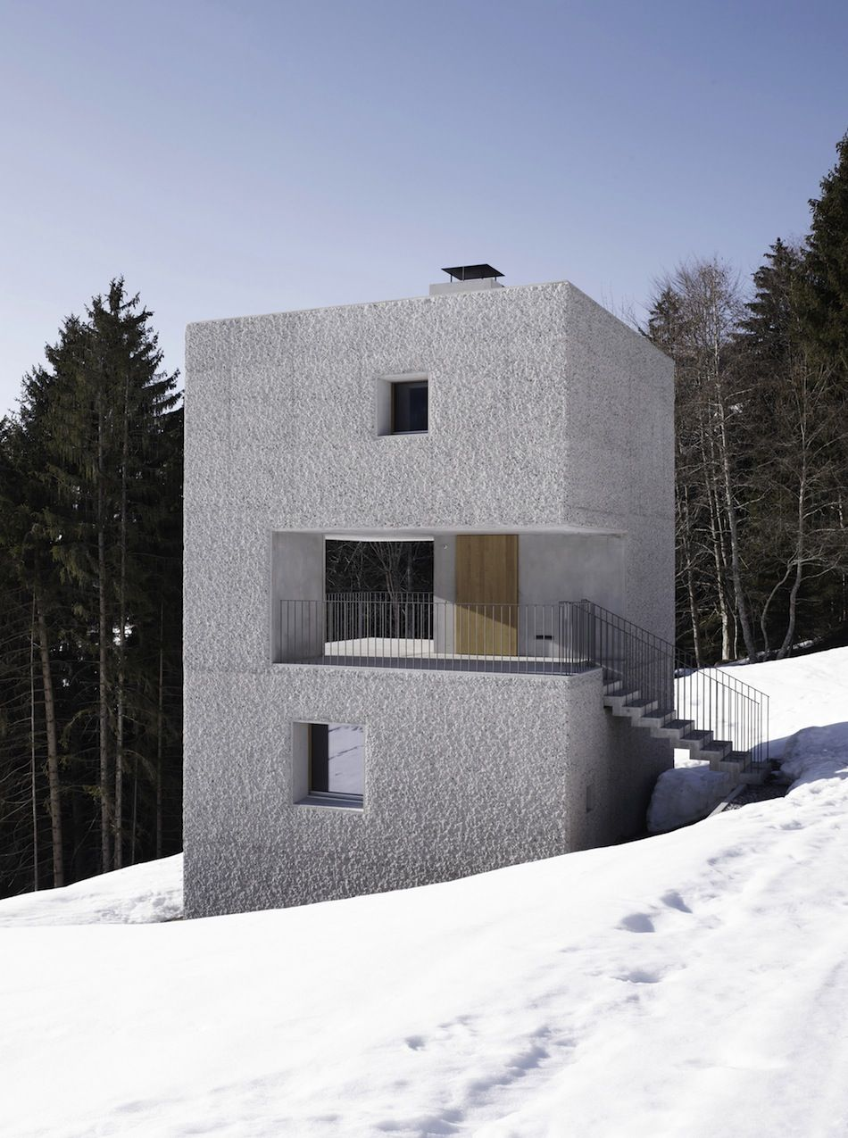 The mountain cabin in laterns austria designed by marte marte architects